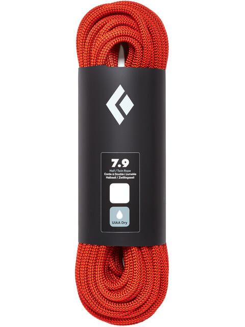 Black Diamond 7.9 Dry - Corde d'escalade - 30m orange